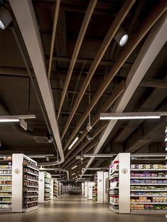 モダンで魅かれるデザイン、上品なラグジュアリー・スーパーマーケット in ブダペスト