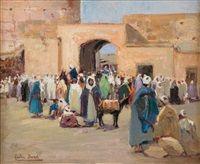 Marché aux grains à Marrakech by Gaston Jules Louis Durel