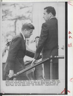 JFK on sad mission... to tell his wife of the death earlier today of their baby son born on Wednesday August 7 1963