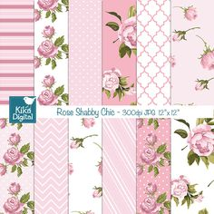 free scrapbook paper shabby chic - Google Search
