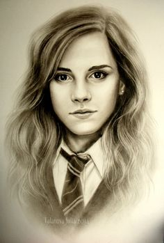 This artist has drawn an amazing picture of hermione granger (Emma Watson) Harry Potter Sketch, Harry Potter Artwork, Harry Potter Drawings, Harry Potter Hermione, Harry Potter Pictures, Harry Potter Wallpaper, Harry Potter Quotes, Harry Potter Fandom, Harry Potter Characters