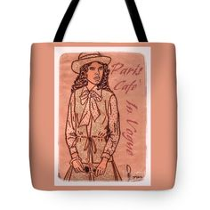 """In Vogue Paris Tote Bag 18"""" x 18"""" by Joan-Violet Stretch"""