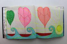 LAURA GUILLÉN 23.7.15 diario arte artista naturaleza mar  sketchbook art artist nature sea