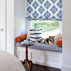 Perfect spot for an early morning cup of coffee! ☕️Hope this week is a bright one! #ashleygoforthdesign #decor #blueandwhite #dogsofinstagram #luxe #interiors