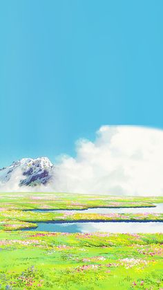 a piercing whistle of pure joie de vivre — aprettyfire: Ghibli + Flowers Studio Ghibli Art, Studio Ghibli Movies, Anime Scenery Wallpaper, Wallpaper Backgrounds, Aesthetic Backgrounds, Aesthetic Wallpapers, Personajes Studio Ghibli, Studio Ghibli Background, Fantasy Landscape