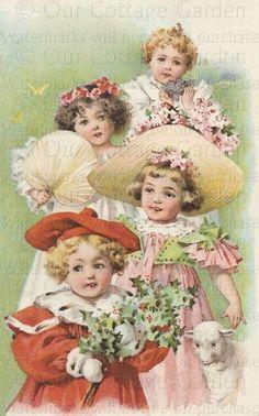Maud Humphrey Bogart via Vintage ~ Victorian Prints & Ads   Pinterest)