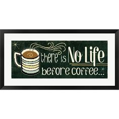 Perfect for any coffee lover, this piece is adorable and ready to hang.