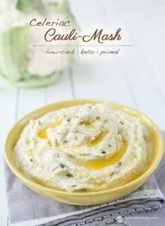 Celeriac Cauli Mash (low-carb, keto, primal)