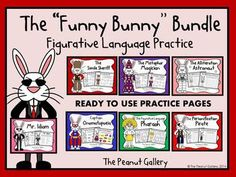 Perfect for Easter or National Poetry Month! These ready to use, figurative language practice pages work well as introductory activities, review, homework, literacy center activities, partner practice, classroom races, etc. Students will enjoy activities such as color coding, matching, and writing their own sentences using figurative language. All pages are included in both color and black/white, and answer keys are included as well. ($)