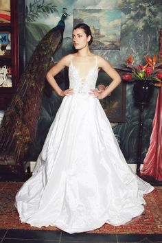Anna Georgina 2015 Bridal Collection is full of deep, plunging necklines, corseted bodices, dainty belts and shimmering embellishment. 2015 Wedding Dresses, Designer Wedding Dresses, Wedding Gowns, Bridesmaid Dresses, South African Wedding Dress, Boho Gown, Lace Mermaid Wedding Dress, Pnina Tornai, Ball Gown Dresses