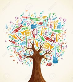 Abstract Musical Tree Made With Instruments Shapes Illustration... Royalty Free Cliparts, Vectors, And Stock Illustration. Pic 14777591.