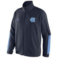 Jordan College On Court Game Jacket - Men's - Basketball - Fan Gear - North Carolina - Navy