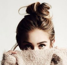 Beautiful hairstyle <3 #hair #hairstyle #bun #beuaty #creative #trendy #blonde #girl #inspiration