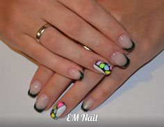 #nail #EMnail #french #forest #akryl