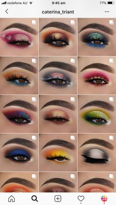 Here are 19 of our feed ideas, themes and feed layouts by makeup artists themselves. Bold Eye Makeup, Creative Eye Makeup, Makeup Eye Looks, Eye Makeup Steps, Eye Makeup Art, Colorful Eye Makeup, Beautiful Eye Makeup, Smokey Eye Makeup, Eyebrow Makeup