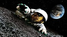 Astronaut on the Moon HD wallpaper