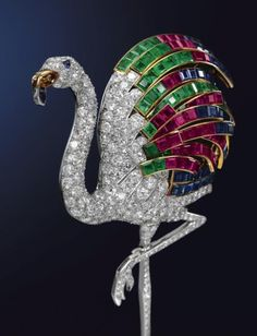 Flamingo Pin Brooch once belonged to the Duchess of Windsor.