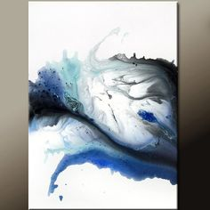 Whispers - Abstract Modern Art Painting  18x24 Original by wostudios on Etsy, $69.00                                                                                                                                                                                 More