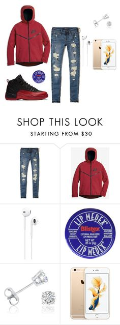 """""""Flu Game"""" by dreairrational on Polyvore featuring Hollister Co., NIKE, Apple and Amanda Rose Collection"""