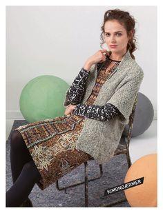 Hendes Verden Lang Co, Tweed, Sequin Skirt, Kimono Top, Sari, Vest, Knitting, Casual, Skirts