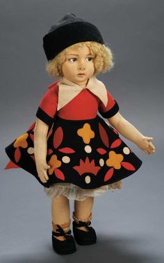 Italian Felt Character,Series 110,by Lenci Apples - An Auction of Antique Dolls | Theriault's