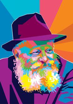 Arte Judaica, Pop Art Portraits, Modern Art Paintings, Portrait Illustration, Cartoon Drawings, Worship, Christianity, Religion, Abstract