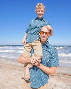 Surf Shirts! | Fabric: Riptide by Citrus & Mint Designs for Riley Blake Designs Short Sleeve Button Up, Button Up Shirts, Clothing Patterns, Women's Clothing, Surf Shirt, Riley Blake, Surfs Up, How To Make Shorts, Cool Tones