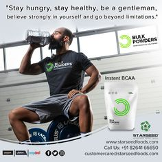 Instant BCAA Powder at great prices. Discover a range of products and excellent service at BULK POWDERS™. Amino Acids, How To Stay Healthy, Protein, Powder, Nutrition, Exercise, Foods, Workout, Twitter