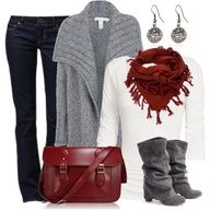 Fashionista Trends, Black, grey and white outfit Casual Fall Outfits, Fall Winter Outfits, Autumn Winter Fashion, Christmas Outfits, Christmas Clothing, Winter Clothes, Christmas Party Outfit Casual, Winter Wear, Family Christmas
