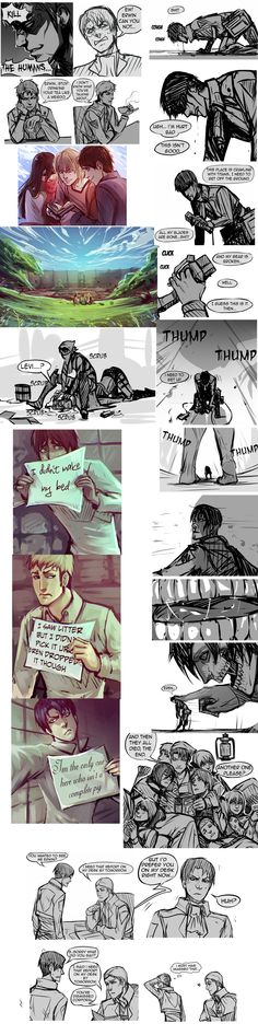 A comic dump of the commander and corporal! | Levi (Rivaille) Ackerman | Erwin Smith | Eren Jaeger | Mikasa Ackerman | Armin Arlert | Hanji Zoe | What+Is+This+Junk+by+moni158.deviantart.com+on+@deviantART