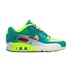 Nike Womens Air Max 90 Doernbecher Premium Shoe Radiant EmeraldVoltMidnight 838797 374 85 >>> Learn more by visiting the image link. (This is an affiliate link) All Nike Shoes, Hype Shoes, Nike Air Max 90s, Air Max 90 Premium, Fresh Shoes, Nike Fashion, Sneakers Fashion, Sport, Bunt