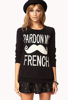 Pardon My French Sweater | FOREVER21 I missed this the first time around, hope I can get it this time! #pardonmyfrench #forever21