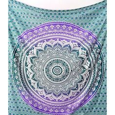 Large Fabric Cotton Mandala Tapestry Hippie Psychedelic Bedspread... ($17) ❤ liked on Polyvore featuring home, bed & bath, bedding, fabric bedding, tapestry bedding, cotton bed linen and cotton bedding