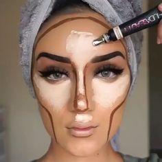Make up / Makeup Tips ( . - Make up / Makeup tips (World make up) Makeup 101, Beauty Makeup Tips, Makeup Goals, Makeup Inspo, Makeup Inspiration, Daily Makeup, Makeup Products, Contour Makeup, Eyebrow Makeup