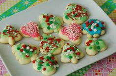 Gluten-Free Spritz Cookie Recipe - remove almond flavoring, use another flavoring like vanilla.  #cookies #Christmas