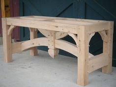 Timber frame table base 2