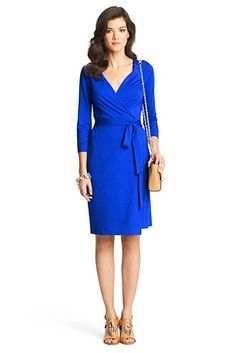 New Julian Two Jersey Wrap Dress In Blue Diamond - Diane Von Furstenberg