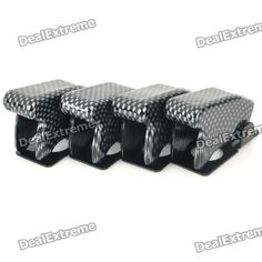 DIY Toggle Switch Flip Safety Covers Guards - Black (4-Pack)