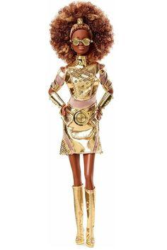 Star Wars C3PO X Barbie Doll Figure. C3PO Gift Ideas. Star Wars Gift Ideas For Barbie Doll Lovers. Birthday Xmas Gift Ideas For Women Girls. Star Wars Gift Ideas. Star Wars Lover Gifts. #StarWarsLoverGifts #C3PODoll #StarWarsGiftIdeas