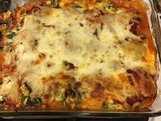 Baked Manicotti Meat Manicotti, Baked Manicotti, Manicotti Recipe, Baked Pasta Recipes, Healthy Pasta Recipes, Baking Recipes, Chicken Recipes, Sausage Spaghetti, Apple Pie Bars