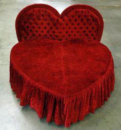 heart-shaped bed www.parkerandmorgan.com