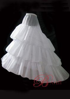 Petticoat   Tiered Petticoat Skirt Sweep Train Wedding Dress Bridal Gown Hoop ...