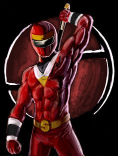 red alien ranger by vubees.deviantart.com on @DeviantArt