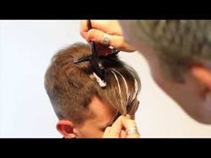 ▶ Pompadour haircut- How to Modernize a Pompadour Mens Hair Coloring Highlights - YouTube