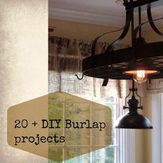 20+ Diy burlap projects