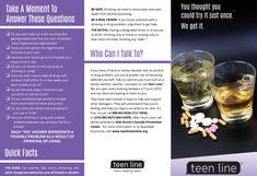 Teenline Drug/Alcohol Brochure