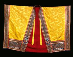 A Rare Yellow Embroidered Daoist Priest's Robe (Jiangyi), Qing Dynasty, 19th Century @ Sotheby's