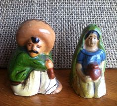 Vintage Mexico Salt and Pepper Shakers