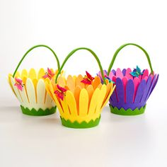 These are just precious and eco-friendly! What cute Easter baskets. (Don't forget Easter is April 5th.) http://www.stubbypencilstudio.com/product/FELT_BASKET_FLOWER/Felt-Flower-Basket/