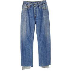 パンツ ❤ liked on Polyvore featuring bottoms, denim, pants and vetements